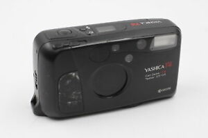 Yashica T4 COMPACT FILM CAMERA w/ Carl Zeiss T* Tessar 35mm F/3.5 Lens WORKING