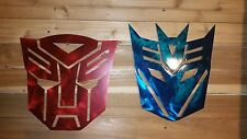 2 AUTOBOTS TRANSFORMERS Metal Signs, Hand Made in Waco Texas