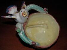 Vecchio posacenere in ceramica ALBE II Vicenza uccello su nido ramo del vintage