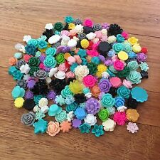 250 pieces 'Second' Flower Rose Cabochon Resin Embellishments - B Grade