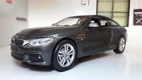 1:24 Escala Gris BMW M4 4 Serie F32 435i 71303 M Sport New Ray de Metal Modelo