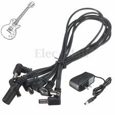 9V Guitar Effect Pedal Board Power Supply US Plug + 6 Way Daisy Chain Cable
