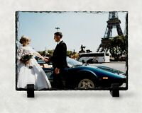 Custom Printed Photo Large Rock Slate Personalised Wedding Gift Picture 20x30 CM