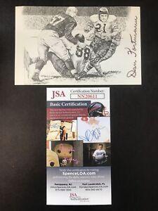 Dan Fortmann NFL CHICAGO BEARS Autographed HOF Postcard Signed JSA CERTIFIED