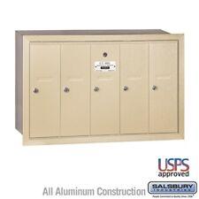 Salsbury Vertical Mailbox 5 Doors Sandstone Recessed Mounted 3505SRU Mailbox NEW