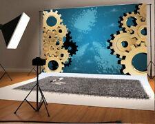 7x5ft Background Gear Scene Abstract Theme Vinyl Photo Backdrop Studio Prop Show