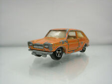 Diecast Majorette Fiat 127 No. 203 in Orange Good Used Condition