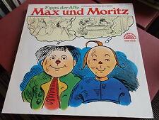 MAX UND MORITZ: FIPPS DER AFFE: HÖRSPIEL VINYL LP: PARADISO LABEL: WILHELM BUSCH