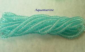100 Light Aquamarine  Czech Glass Rondelle Beads 4MM