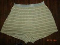 VTG Victorias Secret Boxer shorts Cotton Panties Signature Waist Band M/L stripe