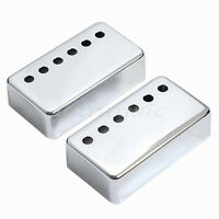Humbucker Guitar Neck and Bridge Pickup Covers Cover Chrome
