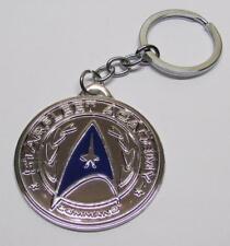 STAR TREK Starfleet Acadamy Silver Pendant Metal KEY CHAIN Ring Keychain NEW