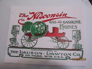 "Lauson-Lawton ""Wisconsin"" Gas Engine Catalog, All Sideshaft Engine Catalog"