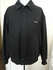 "MENS BLACK WOOL MIX DESIGNER BOMBER JACKET BY PAUL&SHARK - XXL 46- 48"" CHEST"