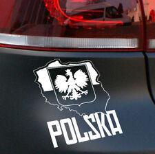 La Pologne Aigle Voiture Autocollant Polish Flag Eagle Sticker Polski POLSKA JDM OEM