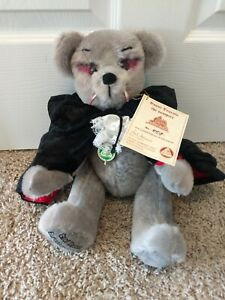 "Hermann Bear Graf Dracula European Edition 458/500 Mohair Growler 14"" With Tags"