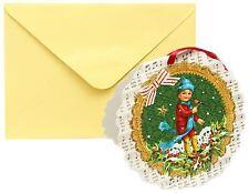 Mini Advent Calendar Christmas Card Decoration - Boy with Bird