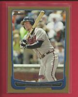Chipper Jones 2012 Bowman GOLD Parallel Card # 91 Atlanta Braves Baseball MLB
