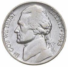 5c BU Unc MS 1943-D Jefferson WARTIME Silver Nickel *670