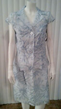 Sheer Blue Floral Sun Dress And Jacket Two Piece Size 10 by Connected