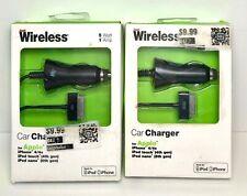 2 PK Just Wireless Apple i Phone 4/4s iPod Nano iPod Touch Car Charger Black U20