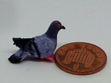 1 12 Scale Hand Made Polymer Clay Pigeon Dolls House Miniature Garden Bird