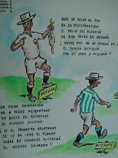 año '50 Domingo Wasaldua Villalba, Tropezones dice Sevilla 2 Granada 0 Alicante
