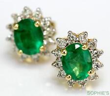 Emerald Yellow Gold 18k Fine Earrings