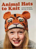 Animal Hats to Knit Pattern Book 20 Wild Projects Panda Cat Monkey etc  YE491