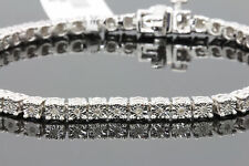 .31 CT WOMENS/MENS WHITE GOLD FINISH FANOOK DIAMOND 1 ROW LINK TENNIS BRACELET