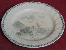 superbe ancienne assiette faience GIEN model OCEAN signé  dos GIEN terre de fer