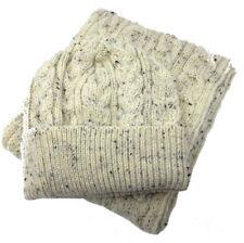 Traditionnel Aran 100% Laine Chapeau Et écharpe Ensemble adapté pour les hommes ou femmes