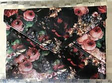 NEW 'Vintage Floral' with Studs Clutch/Tablet/Evening/Career Bag