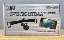 BOYO Wi-Fi Backup Camera VTX400W  Plate or Bracket Mount Camera -Viewed on Phone