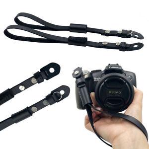 Camera Strap Leather Rope Hand Wrist Strap Wrist Band Lanyard for DSLR Camera