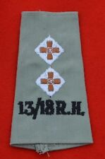 British Army. 13th/18th Royal Hussars Genuine Officer's Shoulder Rank Slide