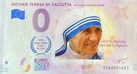 BILLET 0  EURO MOTHER TERESA OF CALCUTTA COULEUR  2019  NUMERO DIVERS