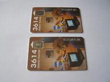 lot 2 telecartes 3614 minitel 50u ref phonecote F290b et F290A