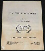 LA BELLE NOISEUSE 1991 PRESS KIT INFORMATION PACKET JACQUES RIVETTE JANE BIRKIN