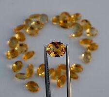 Citrine oval natural gem loose faceted 9 x 7mm