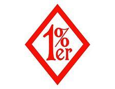 1% er One Percenter VINYL DECAL RED 4X5 BIKERS BIKING OUTLAW BIKER CLUBS
