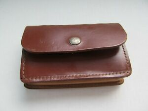 Vintage Bucheimer Brown Leather Rifle Ammo Pouch Model 55