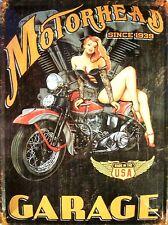 Motorhead since 1939 Pin Up Blechschild Schild Blech Metall Tin Sign 30 x 40 cm