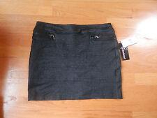 NWT Joe Benbasset Skirt juniors Size large Black Ponte Knit