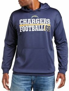 San Diego Chargers NFL Majestic Mens 1 Handed Catch Hoodie Big & Tall Sizes