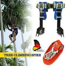 2 Gears Tree Climbing Spike Set Safety Adjustable Rope Lanyard Rescue Belt Kit