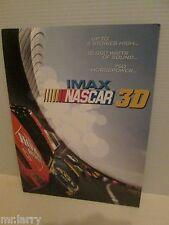 IMAX NASCAR RACING 3D MOVIE THEATER PROMO PORTFOLIO FOLDER 2003