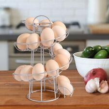 Dispenser Storage Tray Kitchen Organize Freestanding Egg Rack Holder Spiral Iron