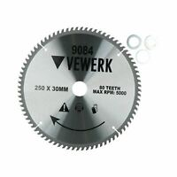 250mm x 30mm TCT Tungsten Carbide Tipped Circular Saw Blades 80 Teeth