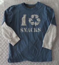 Crazy 8 Size 5 years Boys I recycle snacks shirt GUC